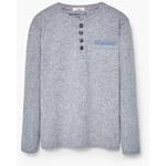 Mango Kids - Dětské tričko s dlouhým rukávem Epan 104-164 cm - světle šedá