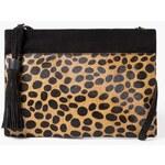 Mango - Kabelka Leopard - černá