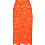 Topshop Cord Lace Pencil Skirt