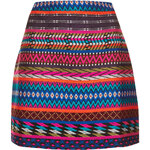 Topshop Patterned Blanket Aline Skirt