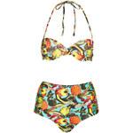 Topshop Tropical High Waist Bikini
