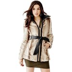 Guess Kabát Long-Sleeve Faux-Fur Mix Coat