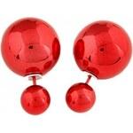 Náušnice 3v1 Perly červené A38379
