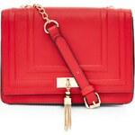 ELISE RYAN Červená kabelka se zlatým dekorem