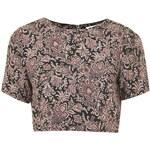 Topshop **Vintage Floral Print Crop Top by Glamorous