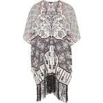 Topshop Scarf Placement Print Kimono