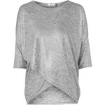 Topshop **Shimmer Crossover Top by Wal G