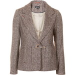 Topshop Hacking Tweed Jacket