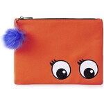 Topshop Embroidered Novelty Eyes Clutch