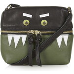 Topshop Leather Novelty Monster Bag