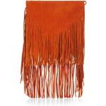 Topshop Premium Suede Fringe Shoulder Bag