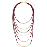 Topshop Cord and Bar Multi-Row Necklace