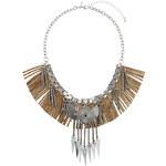Topshop Fringe Chain And Shard Collar