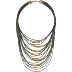 Topshop Threaded Multi-Row Necklace