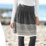 Blancheporte Úpletová sukně s žakárovým motivem