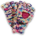 Esprit Rukavice, hrubá pletenina, pajetkové srdce