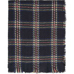 Topshop Textured Check Scarf