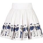 Olympia Le-Tan Cotton Sailor Skirt