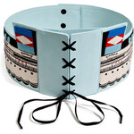 Olympia Le-Tan Embroidered Leather Sailor Belt