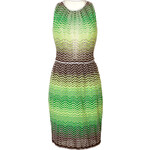 M Missoni Variegated knit Dress with Sheer Back Panel