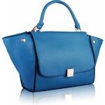 Modrá kabelka se zámečkem LS Fashion LS0068 tyrkysová