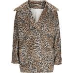 Topshop Leopard Print Wool Ovoid Coat