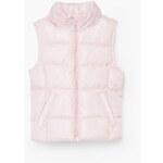 Mango Kids - Dětská vesta Ali 104-164cm - pastelově růžová