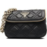 Guess (Bags) - Gold cage Leather S Flap (Black)