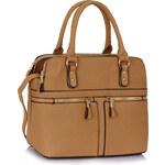 LS fashion LS dámská kabelka se zipy 250 nude