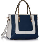 LS fashion Dámská kabelka LS00318 modro-bílá