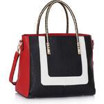 LS fashion Dámská kabelka LS00318 černo-červeno-bílá