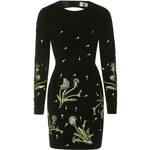 Topshop **Brunswick Velvet Cut-Out Dress