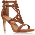 Topshop **Tan High Heel Sandal by Kg by Kurt Geiger