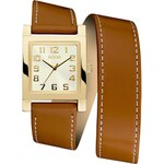 Guess Montre bracelet cuir - marron