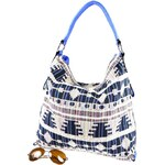 Modrá vzorovaná kabelka Alba Marlen