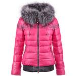 Luxusní bunda s kožešinou růžová Veralba