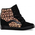 Vans Sk8-Hi Wedge (leopard) black + Doprava Zdarma
