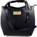 DKNY Donna Karan Kožená DKNY kabelka černá celebrity shopper