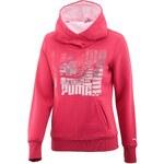 Puma SportsCasual Hoodie- Fleece I růžová S