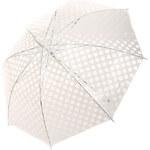 TopMode Krásný vystřelovací retro deštník s puntíky bílá