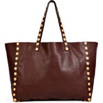 Valentino Leather Gryphon Tote with Studded Trim