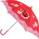 Blooming Brollies Dětský holový vystřelovací deštník Stephen Joseph New Ladybug SJ870160A