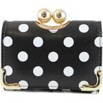 HT Fashion Retro puntíkovaná peněženka hp001 černá