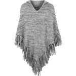 Topshop Knitted Hooded Tassel Poncho