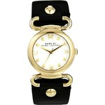 Marc By Marc Jacobs Molly Black Leather Strap Watch