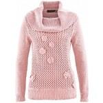 bpc selection Rolákový pulovr s háčkovanou krajkou bonprix