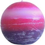StarDeco Svíčka fialovorůžová kulatá 7 cm
