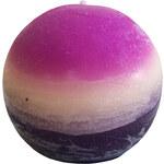 StarDeco Svíčka fialová kulatá 7 cm