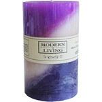 StarDeco Svíčka fialová úzká 10 cm