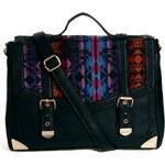 ASOS Satchel Bag With Aztec Weave Panel
